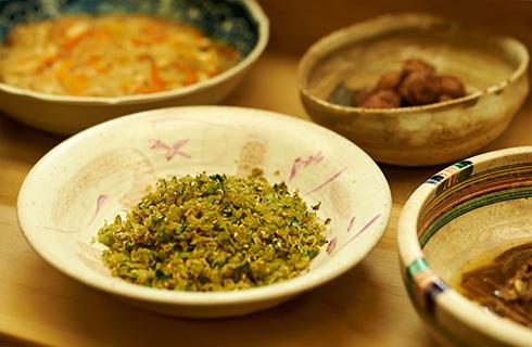 大根菜とじゃこ